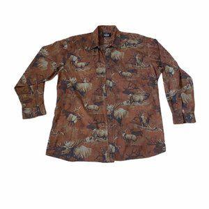 RedHead Mens Button Down Shirt Deer Bucks Hunting